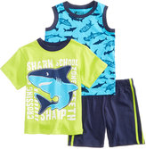 Nannette 3-Pc. T-Shirt, Tank Top and Shorts Set, Toddler and Little Boys (2T-7)