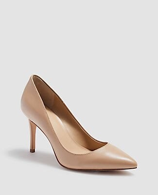 Ann Taylor Mila Leather Pumps