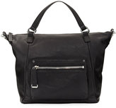 Frye Natalie Moto Leather Tote Bag, Black