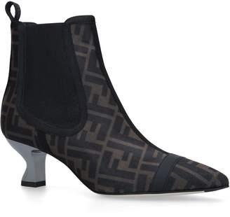 Fendi Colibri Fun Furs Ankle Boots 55
