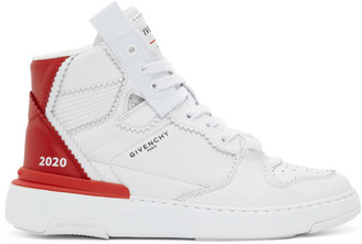 Givenchy White and Red Wings Sneakers