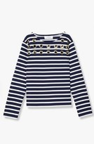 Derek Lam Grommet Detail Striped Top