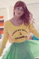 Wildfox Couture My Heart In California Lazy Weekend Long Sleeve Tee in Sunflower