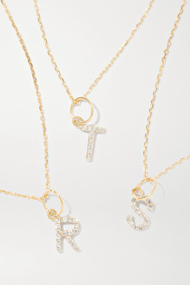 Mateo Initial 14-karat Gold Diamond Necklace - C