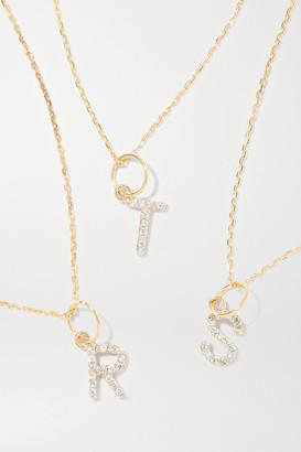 Mateo Initial 14-karat Gold Diamond Necklace - M