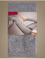 M&S Collection Marl Footless Opaque Tights