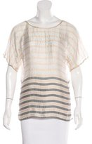 L'Agence Silk Scoop Neck Top