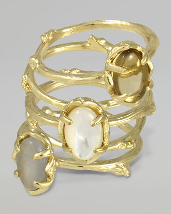 Kendra Scott Set of 5 Stormy Stacking Rings, Pearlescent