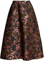 Erdem Tiara floral-jacquard midi skirt