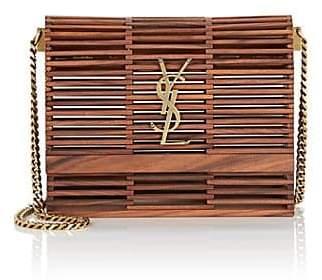 Saint Laurent Women's Kate Small Bamboo Chain Bag - Brown