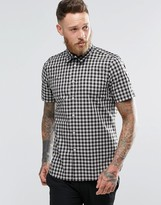 Paul Smith PS by Shirt With Check In Short Sleeve Tailored Slim Fit