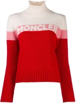 Moncler logo roll neck jumper