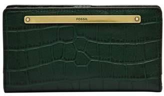 Fossil Liza Slim Bifold Wallet Spruce