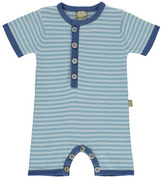 Nui Sale - Billy Striped Organic Cotton Knit Jumpsuit