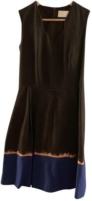HUGO BOSS Grey Cotton - elasthane Dress for Women
