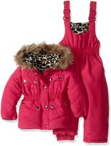 Steve Madden Baby Girls' 2 Piece Parka Jacket and Snowsuit Set