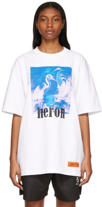 Heron Preston White and Blue Herons T-Shirt
