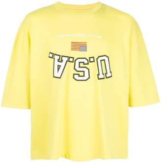 Buffalo David Bitton Willy Chavarria upside-down USA T-shirt