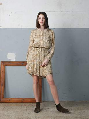 Indi & Cold - Cement Viscose Sparkly Animal Dress - XS