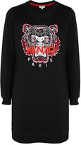 Kenzo Tiger-embroidered Cotton Sweatshirt Dress