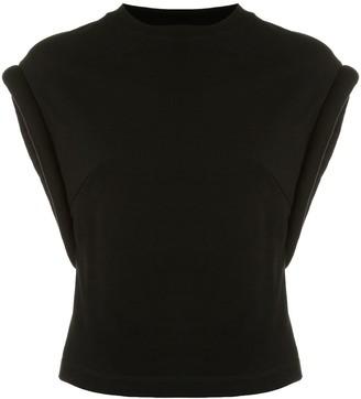 RtA shoulder-pad sleeveless T-shirt