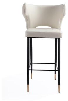 "Brayden Studioâ® Hendon Bar & Counter Stool Brayden StudioA Seat Height: Counter Stool (26"" Seat Height), Upholstery: Cream"