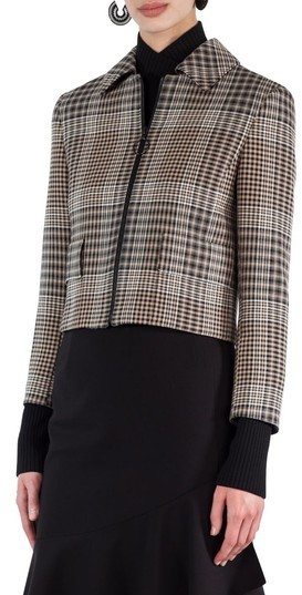 Akris Punto Women's Glen Check Crop Jacket