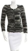 Etoile Isabel Marant Leather-Trimmed Knit Jacket