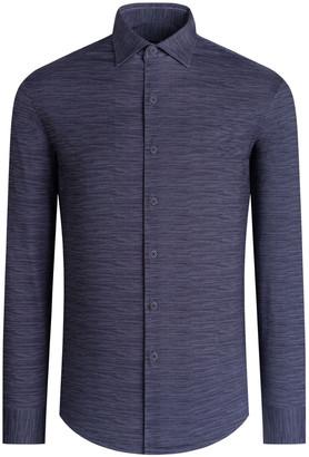 Bugatchi Men's OoohCotton Tech Long-Sleeve Sport Shirt