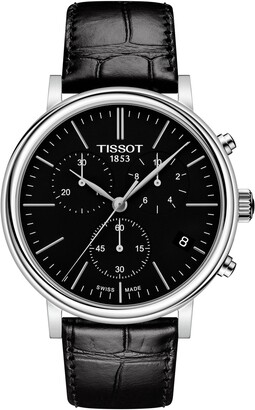 Tissot Carson Premium Chronograph Leather Strap Watch, 41mm