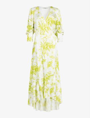 AllSaints Tage Riyaz floral-print silk-blend midi dress