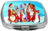 Rikki Knight Compact Mirror, Santa's Group on Snow, 3 Ounce