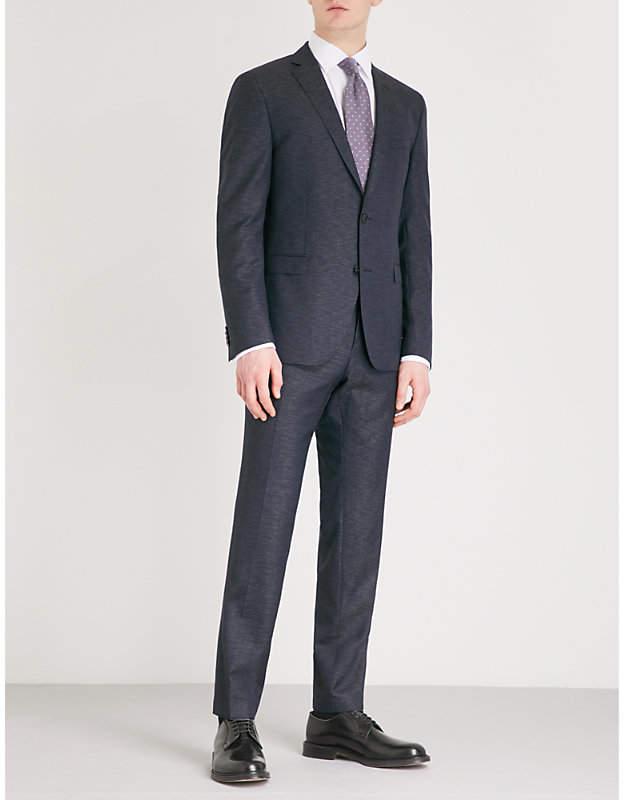 BOSS Slim-fit wool-blend suit
