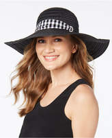 INC International Concepts I.N.C. Gingham-Tie Floppy Hat, Created for Macy's