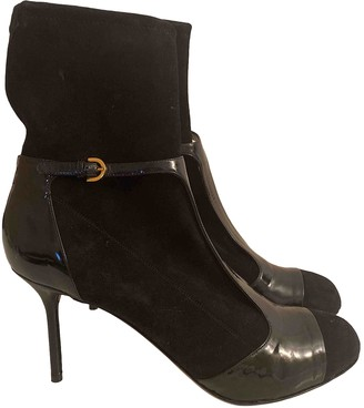 Sergio Rossi Black Suede Ankle boots