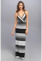 Michael Stars Delancy Stripe Surplice Maxi Dress
