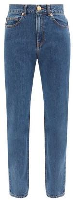 BLAZÉ MILANO Nariida Sapphire Straight-leg Jeans - Dark Blue