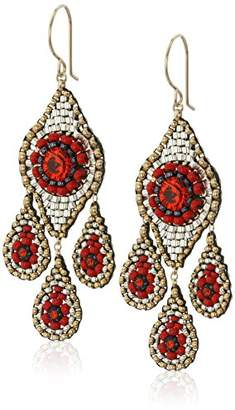 Miguel Ases Small Chandelier Raised Swarovski Chandelier Drop Earrings