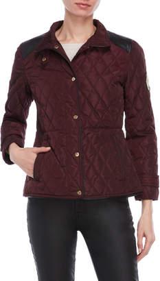 Lauren Ralph Lauren Petite Faux Fur Diamond Quilted Jacket