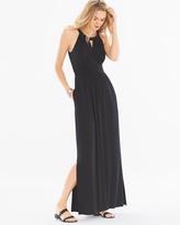 Soma Intimates Sleeveless Shirred Waist Halter Maxi Dress
