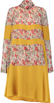 Sonia Rykiel Paneled floral-print voile dress