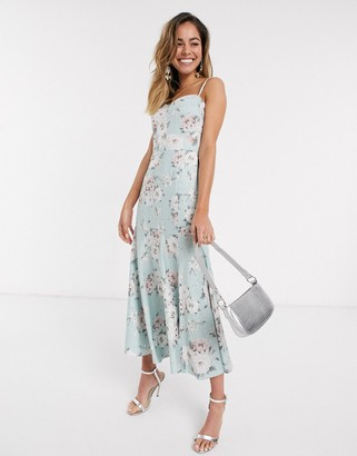 Forever New cami midi dress in soft mint floral print