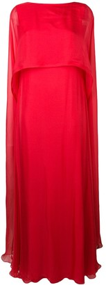 Irina Schrotter cape maxi dress