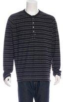 Billy Reid Striped Knit Henley