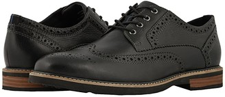 Nunn Bush Oakdale Wingtip Oxford with KORE Walking Comfort Technology (Black Tumbled) Men's Lace Up Wing Tip Shoes