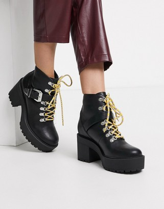 Public Desire Suzie chunky ankle boot in black
