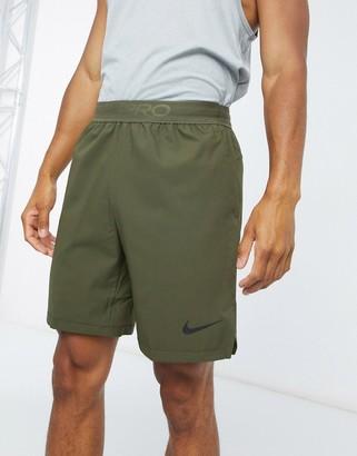 Nike Training Flex vent shorts in khaki