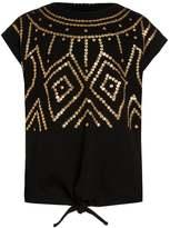 Sisley Print Tshirt black