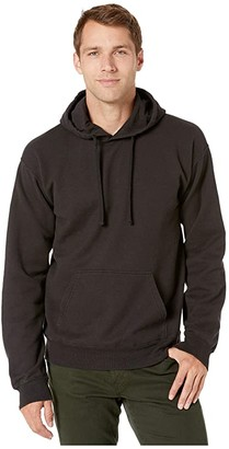 Hanes Comfortwashtm Garment Dyed Fleece Hoodie Sweatshirt (Black) Clothing