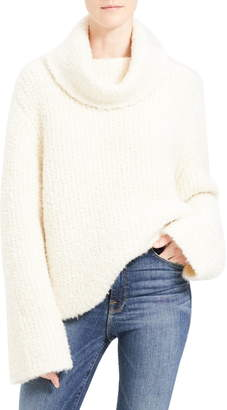 Theory Cowl Neck Bell Sleeve Alpaca & Wool Blend Sweater